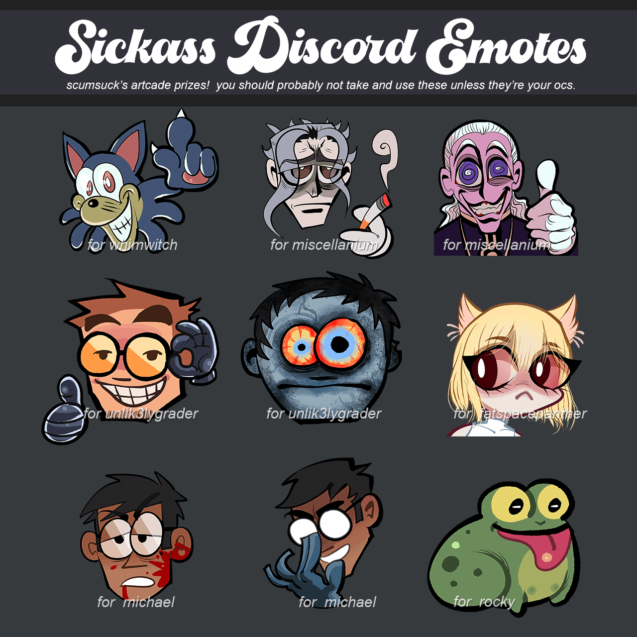 Collection of illustrated emotes