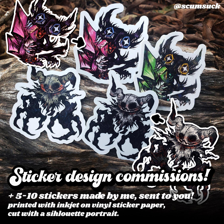 custom sticker commission