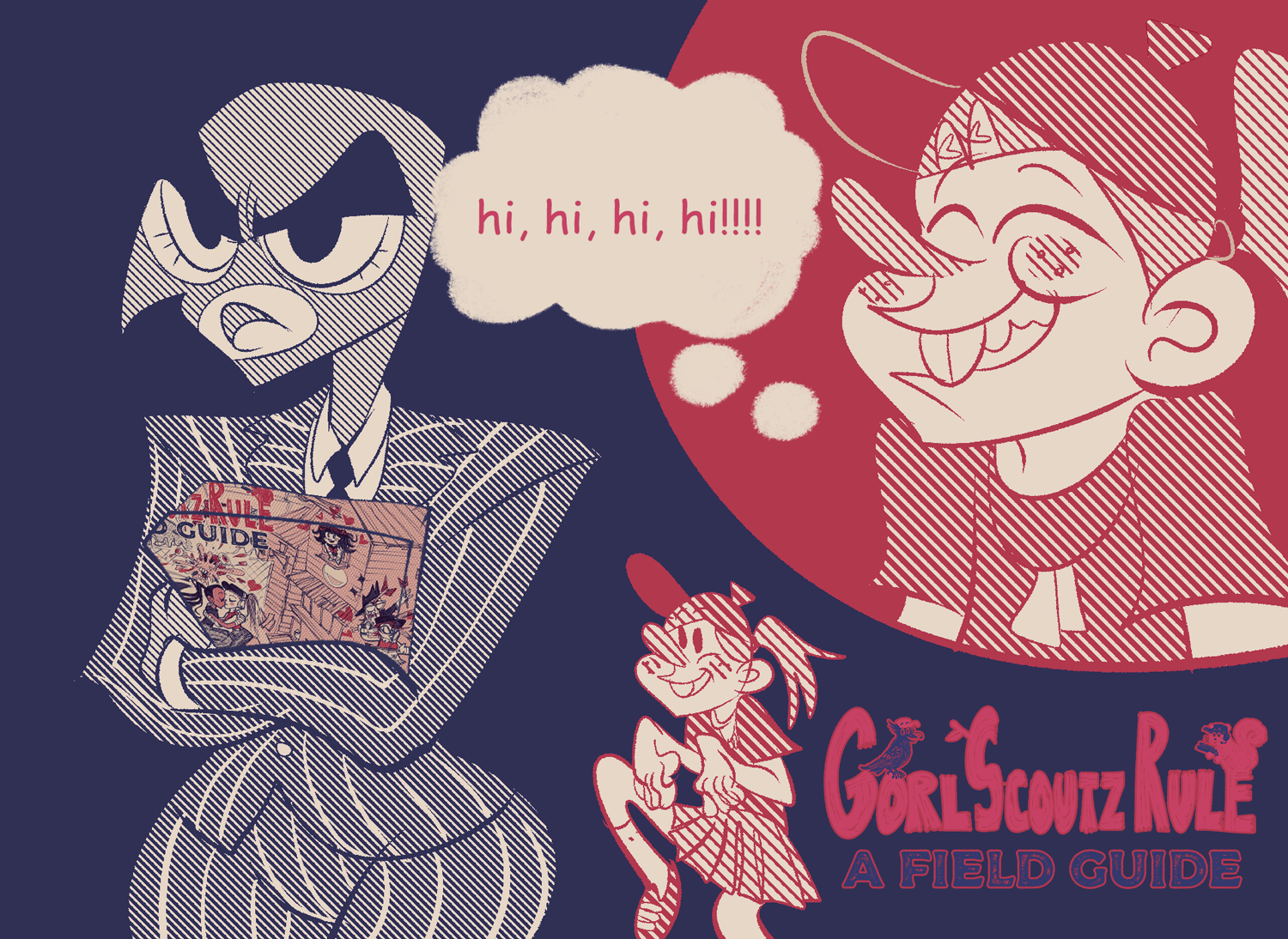 gorl scout zine cover image